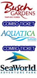Sea World + Busch Gardens + Aquatica Combo